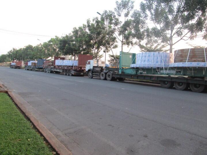 Đoàn xe TGKtrans tại KCN Phú Mỹ
